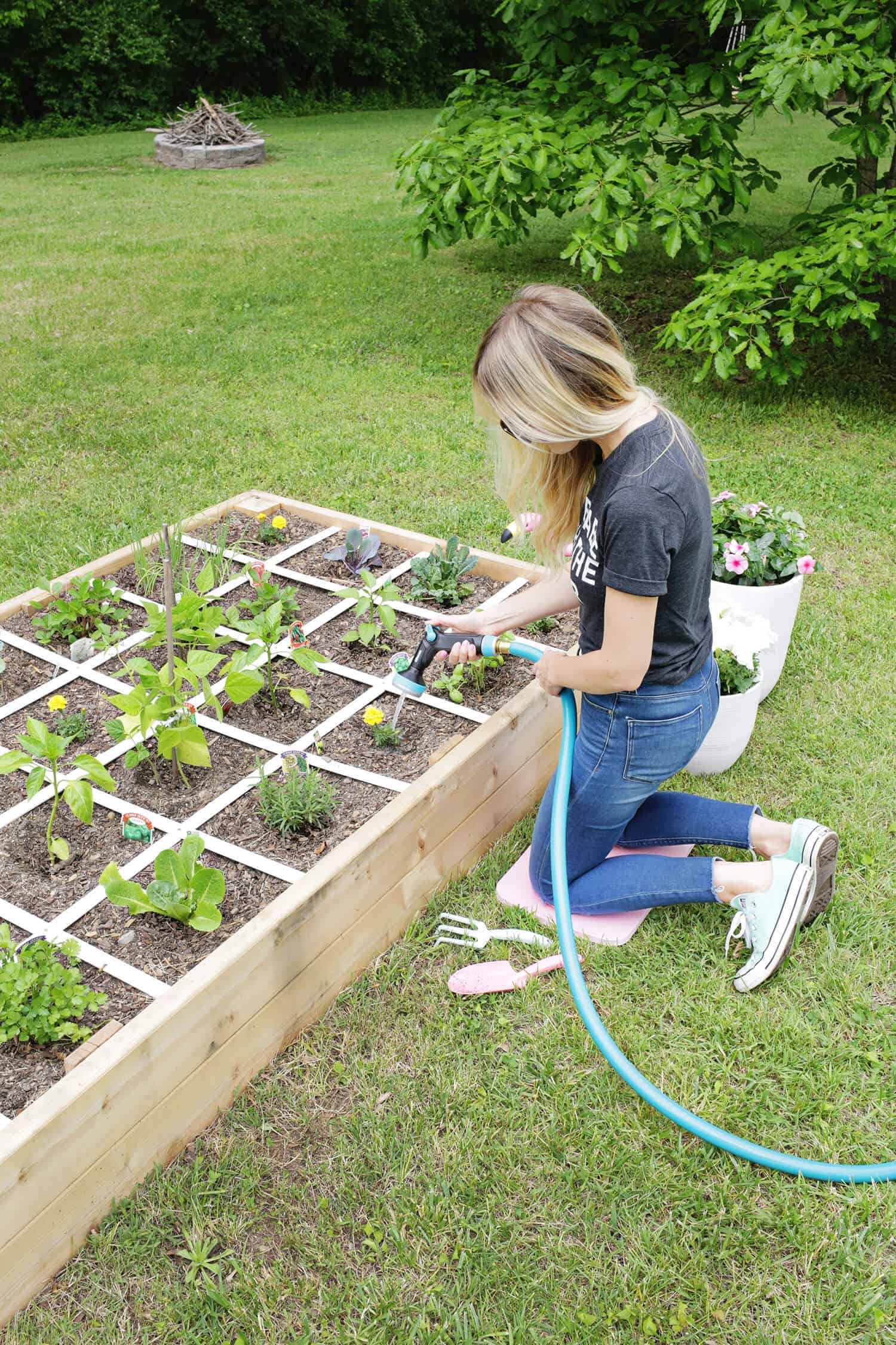 this post is sponsored by gilmour a brand that makes simpler solutions for gardening and watering when making the garden we wanted to plan ahead on how - Garden Bed