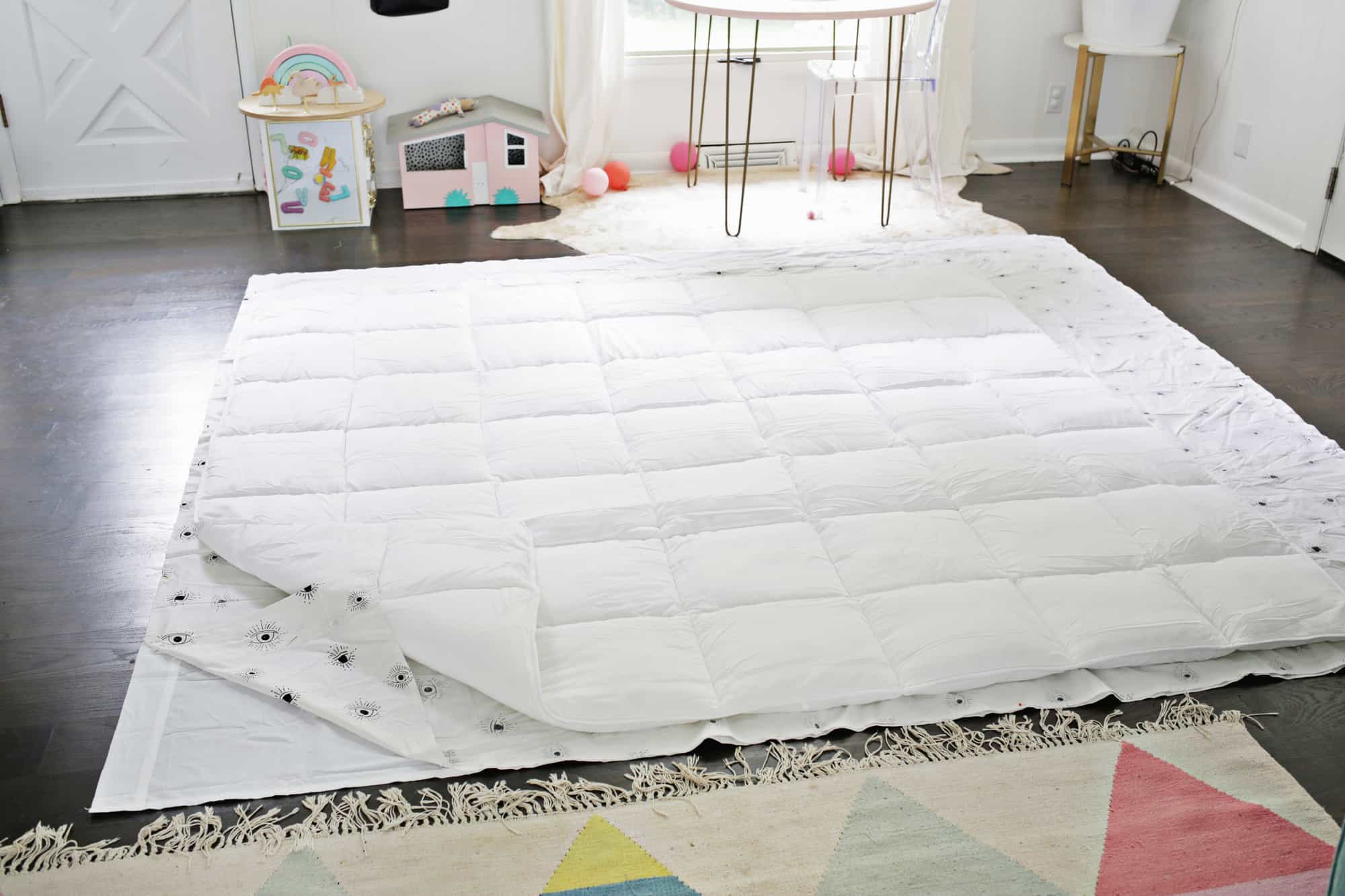 Make An Easy Duvet Cover With Any Flat Sheet A Beautiful Mess