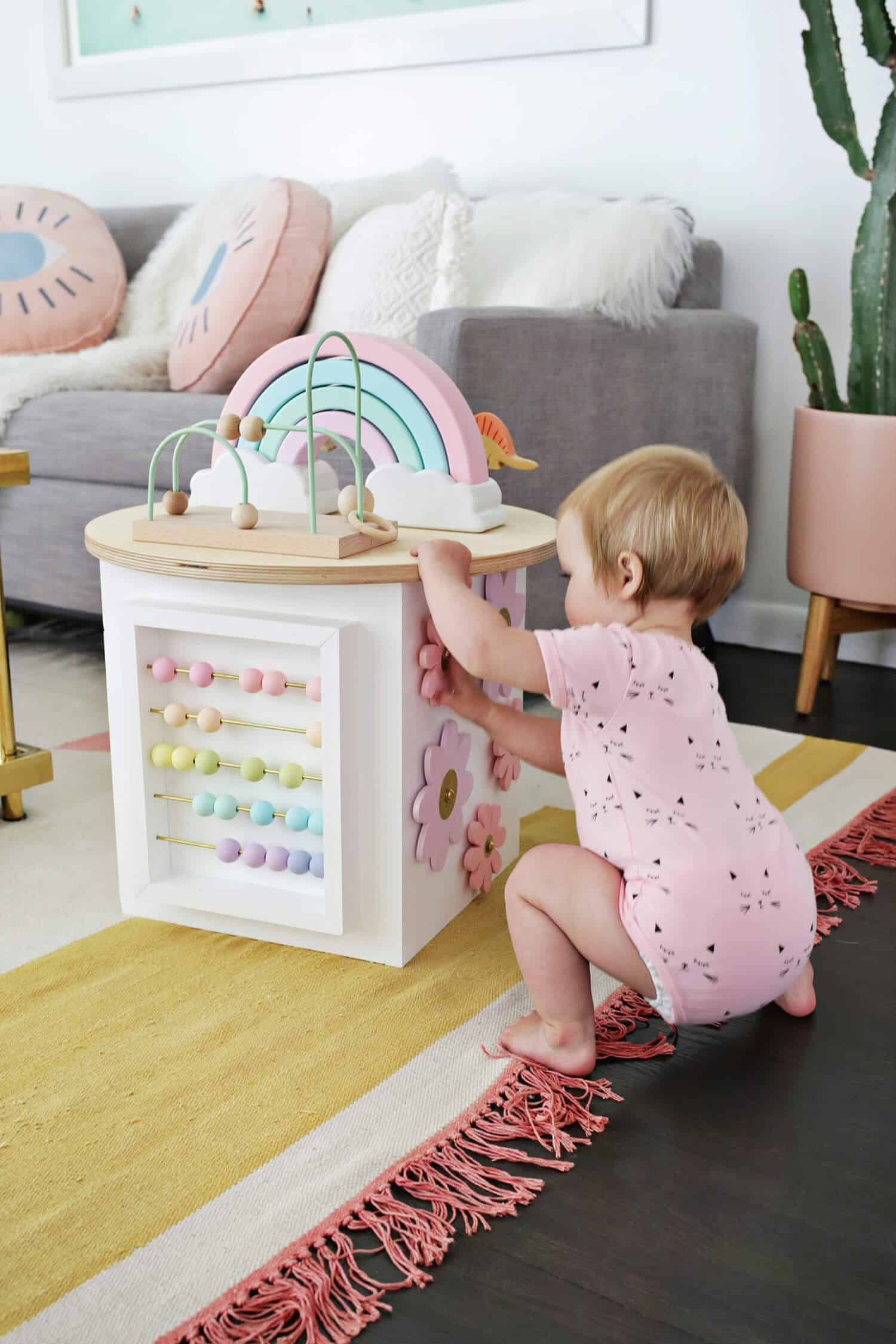 toddler activity center diy a beautiful mess. Black Bedroom Furniture Sets. Home Design Ideas