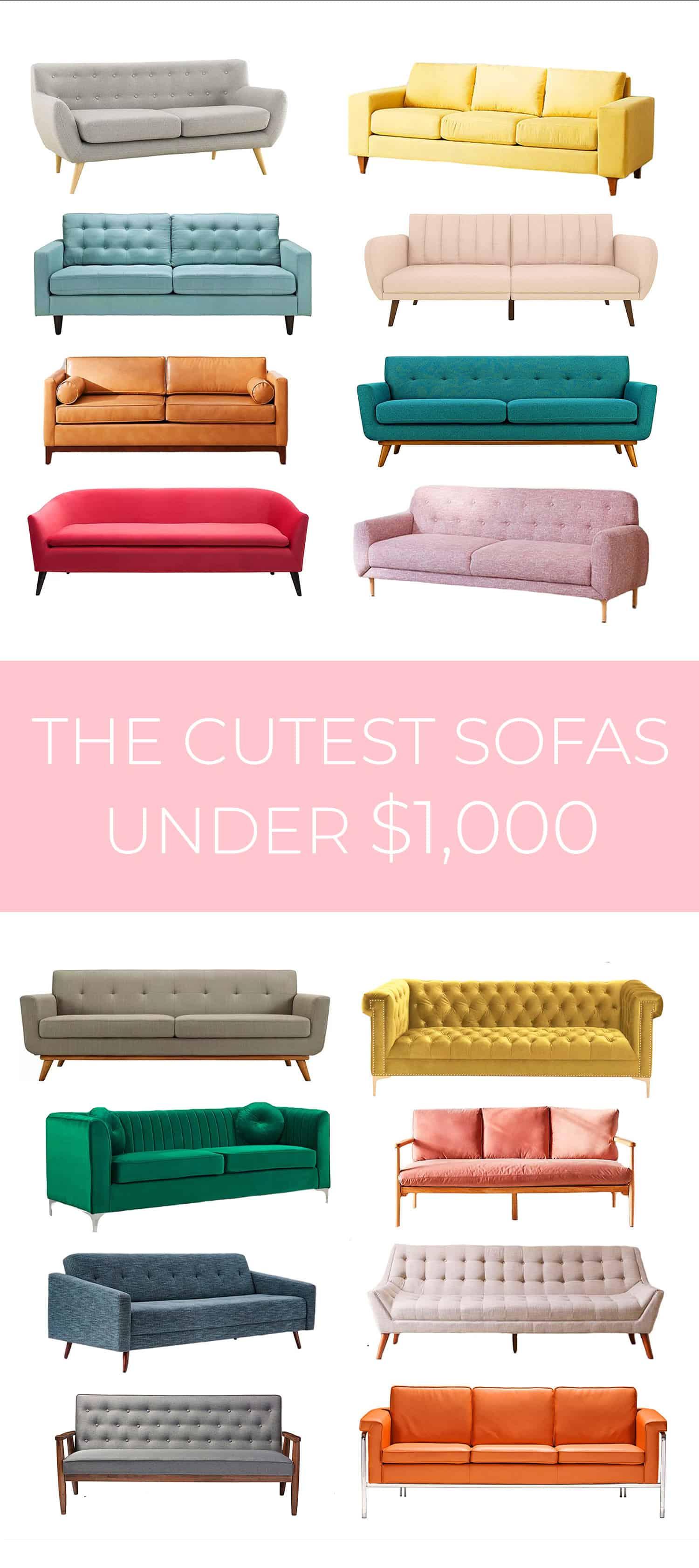 Die süßesten Sofas unter 1.000 Dollar
