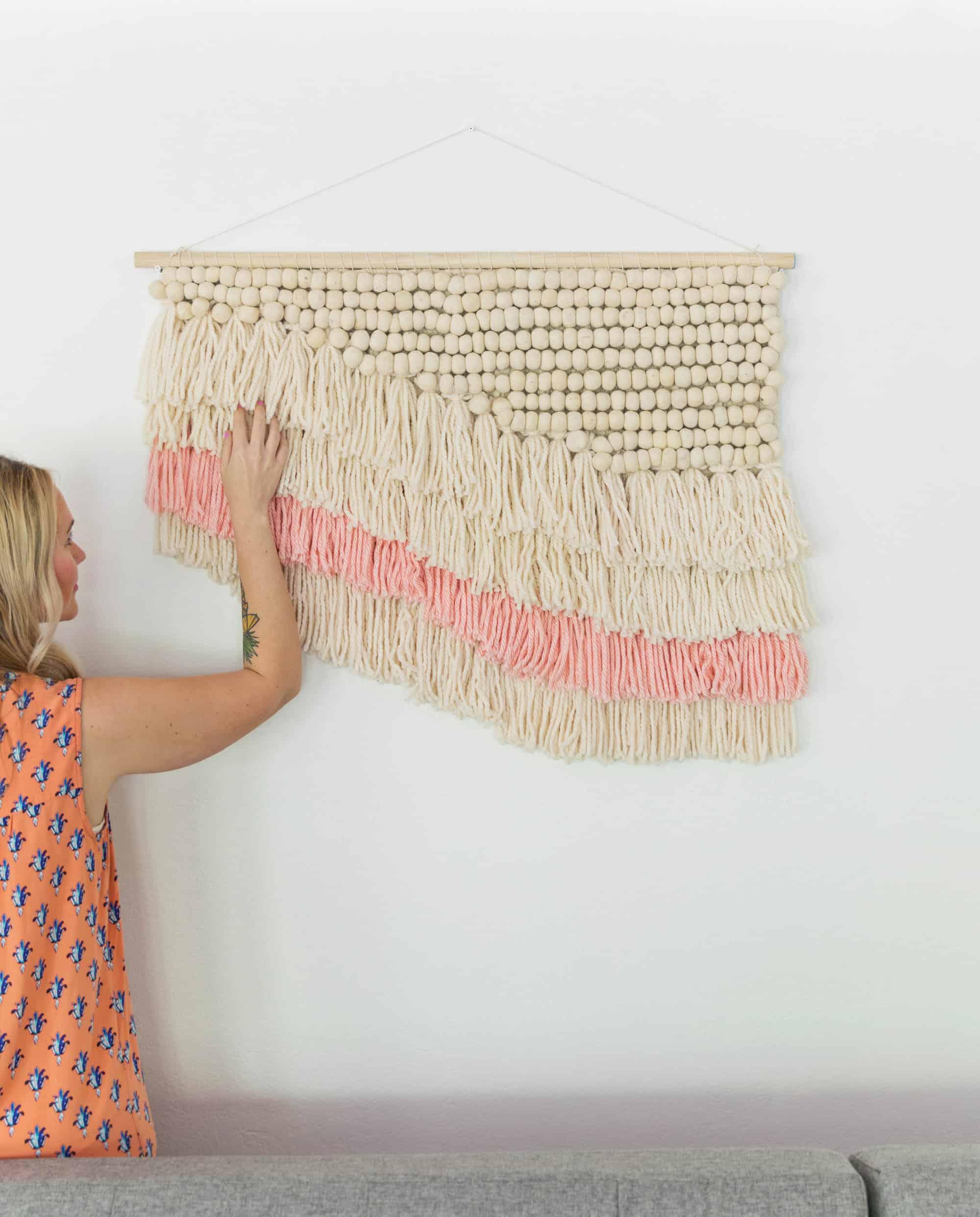 Easy (Faux) Weaving DIY