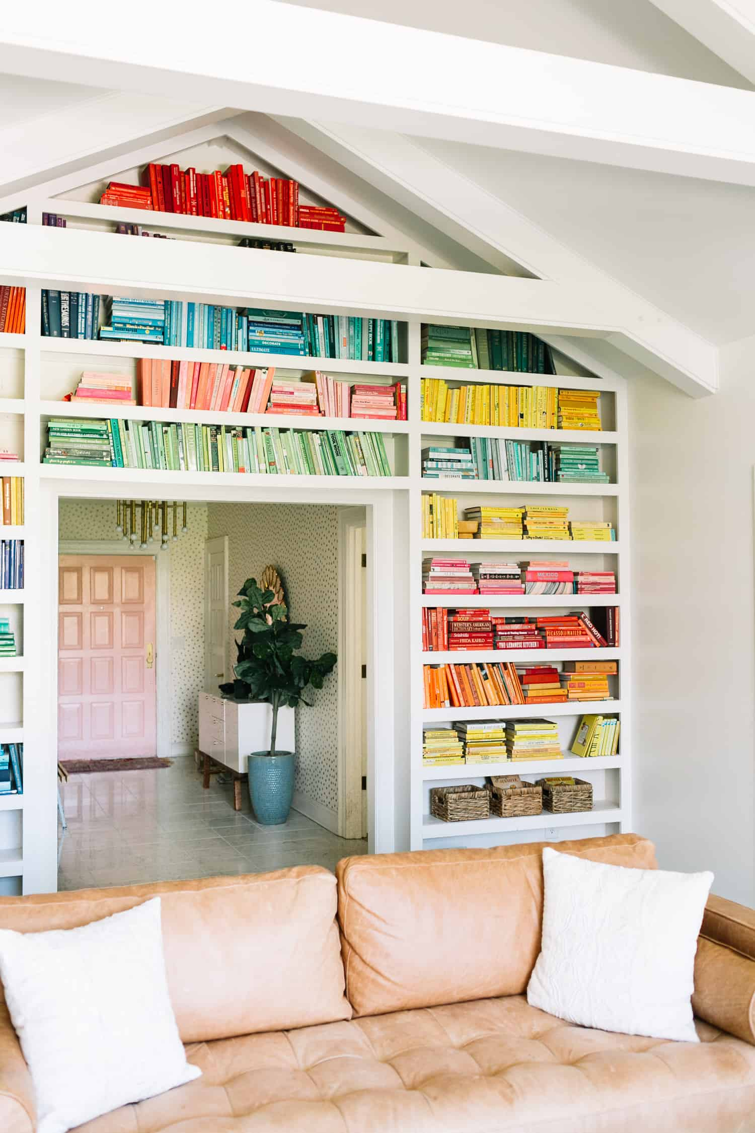 Today I Am So Excited To Share My Completed Rainbow Bookshelves With You Collin Built The Shelves For Me A Year Ago And Then Spent Entire