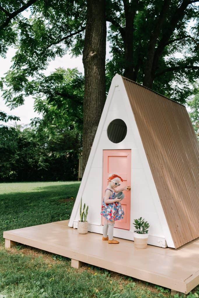 A-Frame Playhouse DIY - A Beautiful Mess