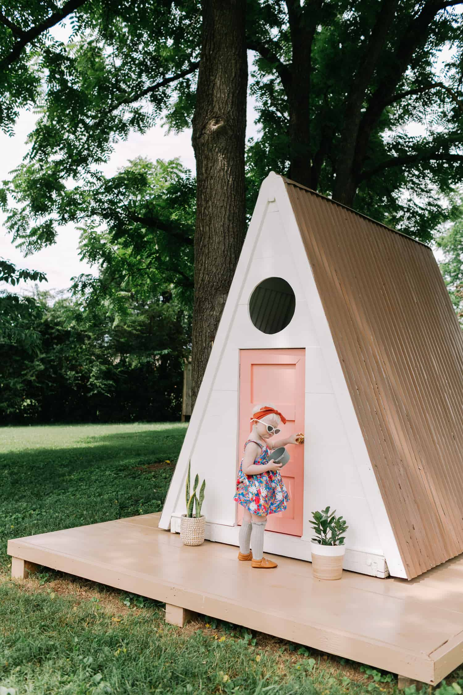 Time To Show You How We Built This A Frame Playhouse