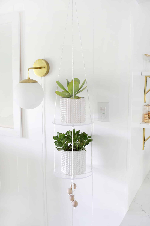 Acrylic Shelf Hanging Planter DIY - A Beautiful Mess