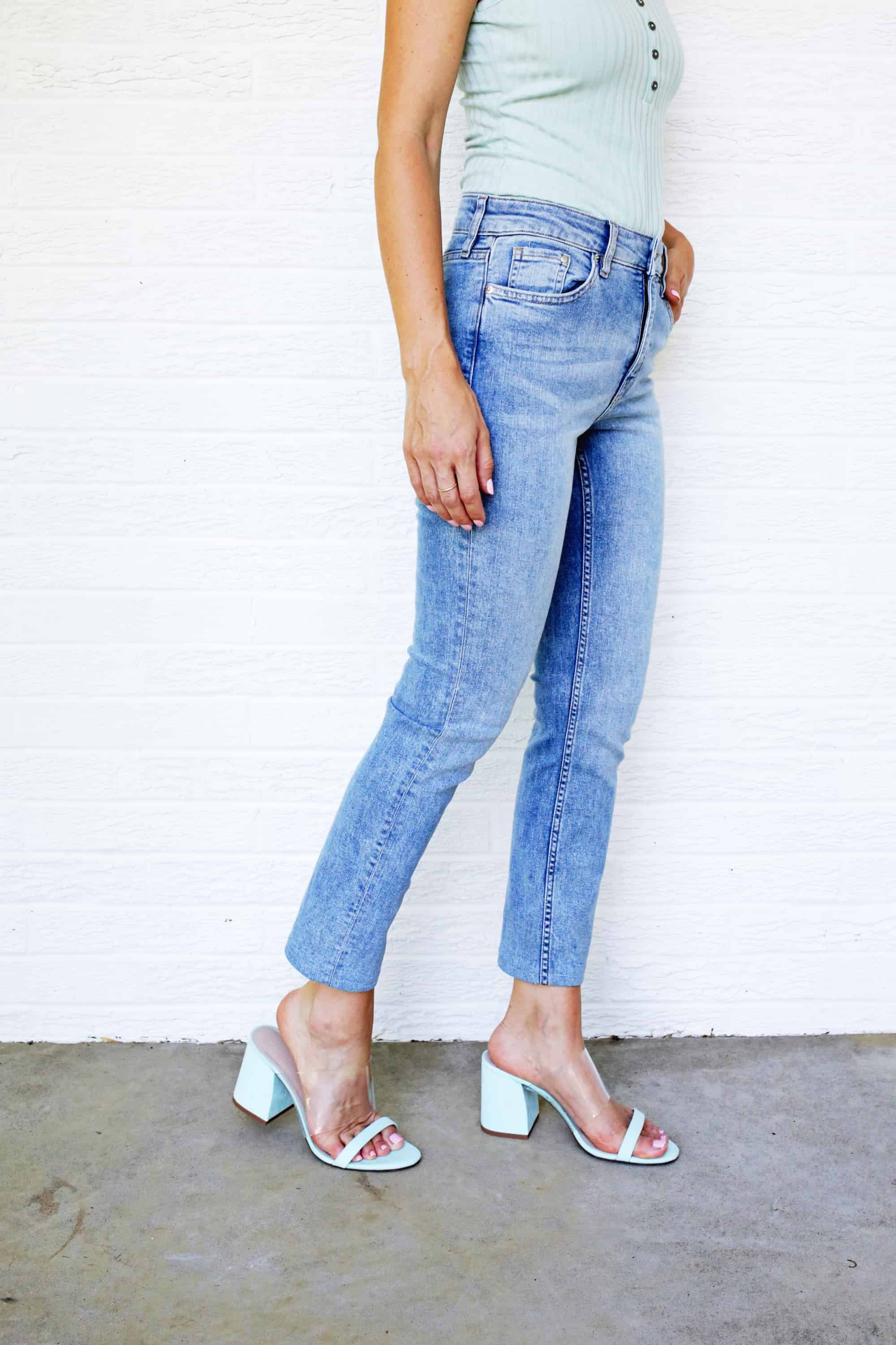 161494a17 See, it sounds so daunting to hem your jeans but it's actually pretty simple  once you try it (P.S. How cute are those mint mules?!). Since I hem pants  all ...
