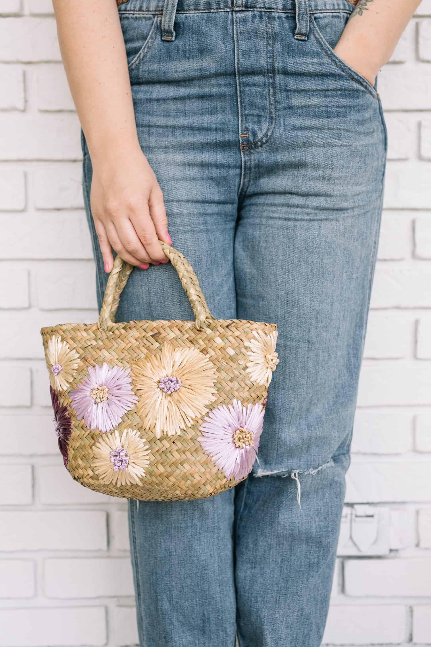 DIY Stitched Floral Purse