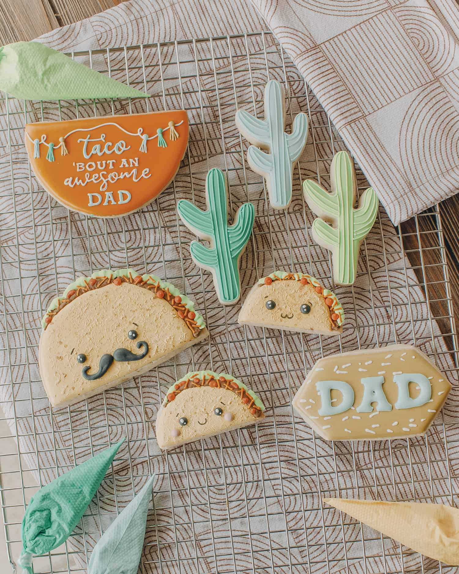 Fathers Day taco cookies