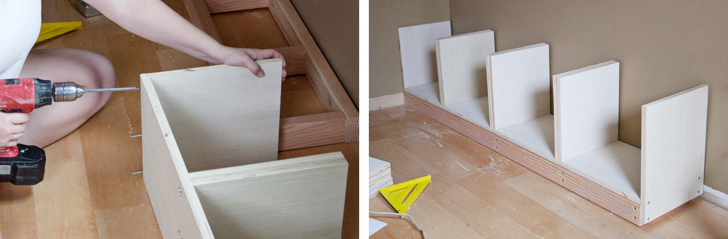 Eingebauter IKEA Billy Bookcase Hack