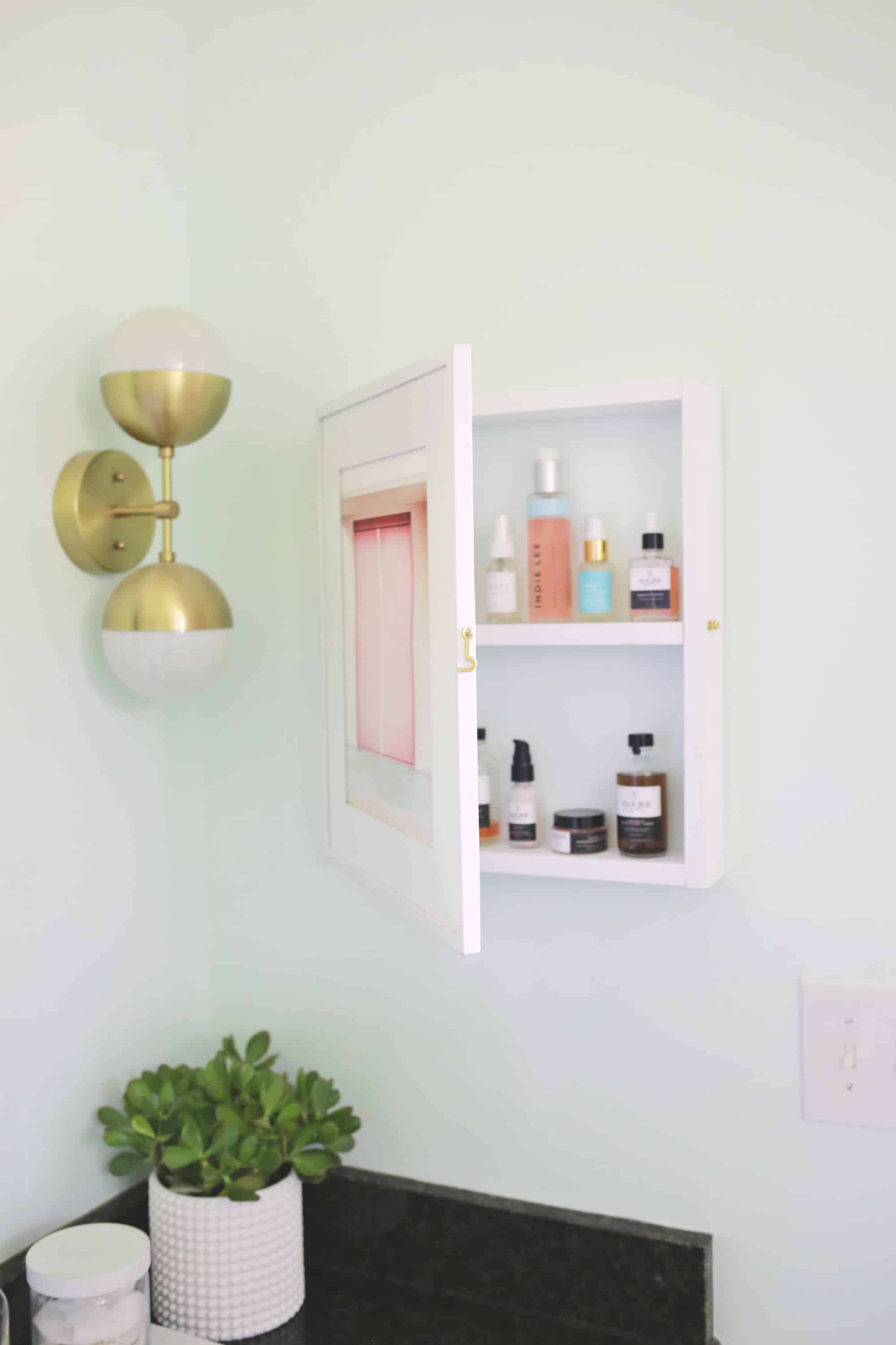 U201cIu0027ve Got Waaay Too Much Bathroom Storageu201d Said No One Ever U2026 Am I Right?!  I Installed This Hanging Makeup Storage And These DIY Marble Shelves To  Give My ...