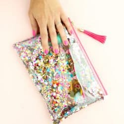 Make Your Own Confetti Zip Pouch