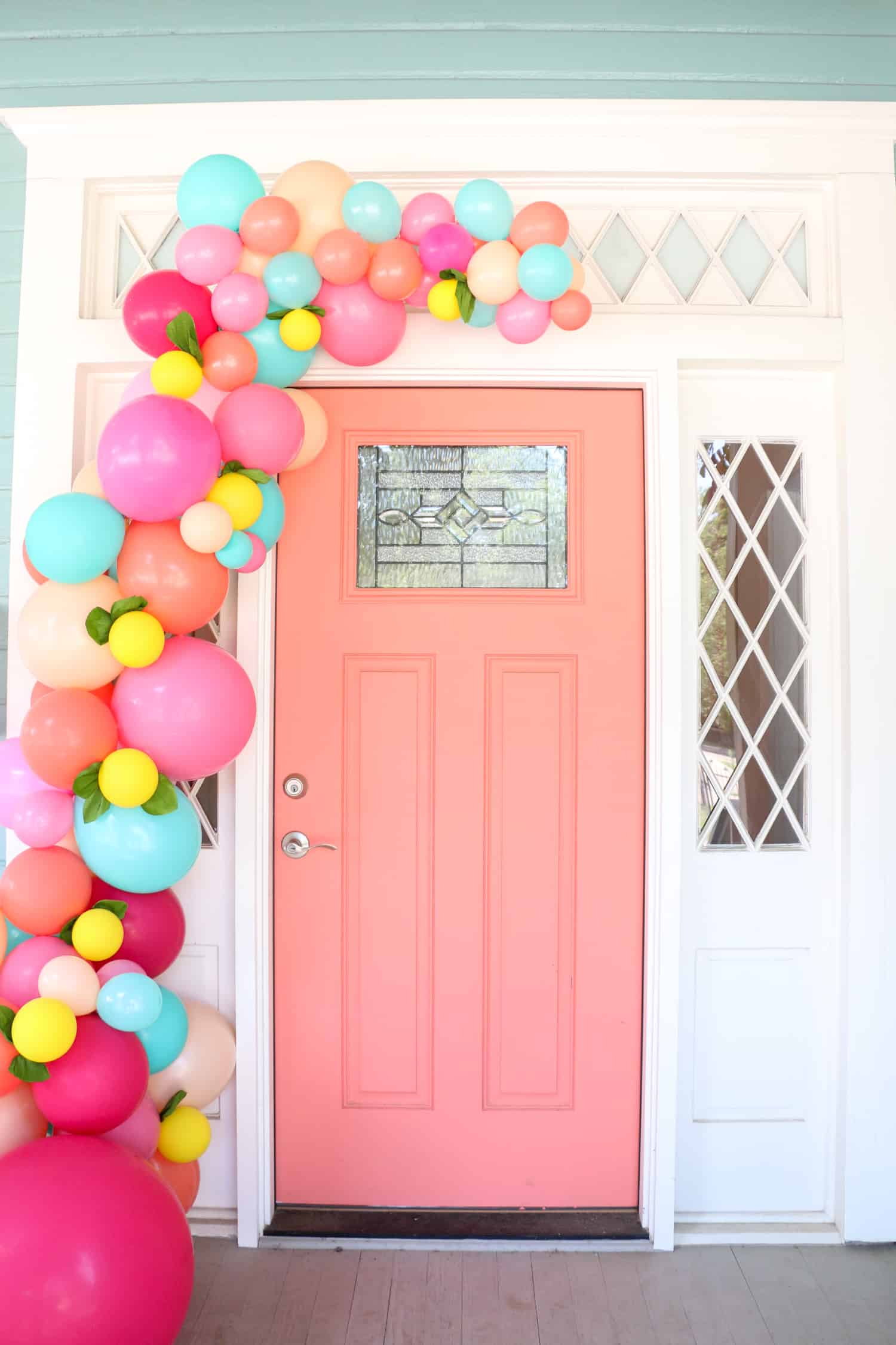 Make A Balloon Garland For Your Front Door - A Beautiful Mess