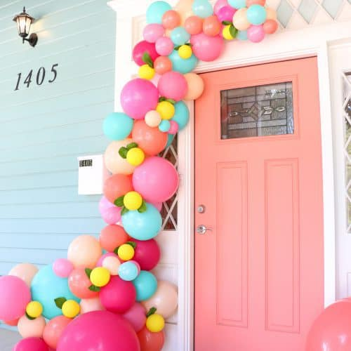 Make a Balloon Garland for your Front Door