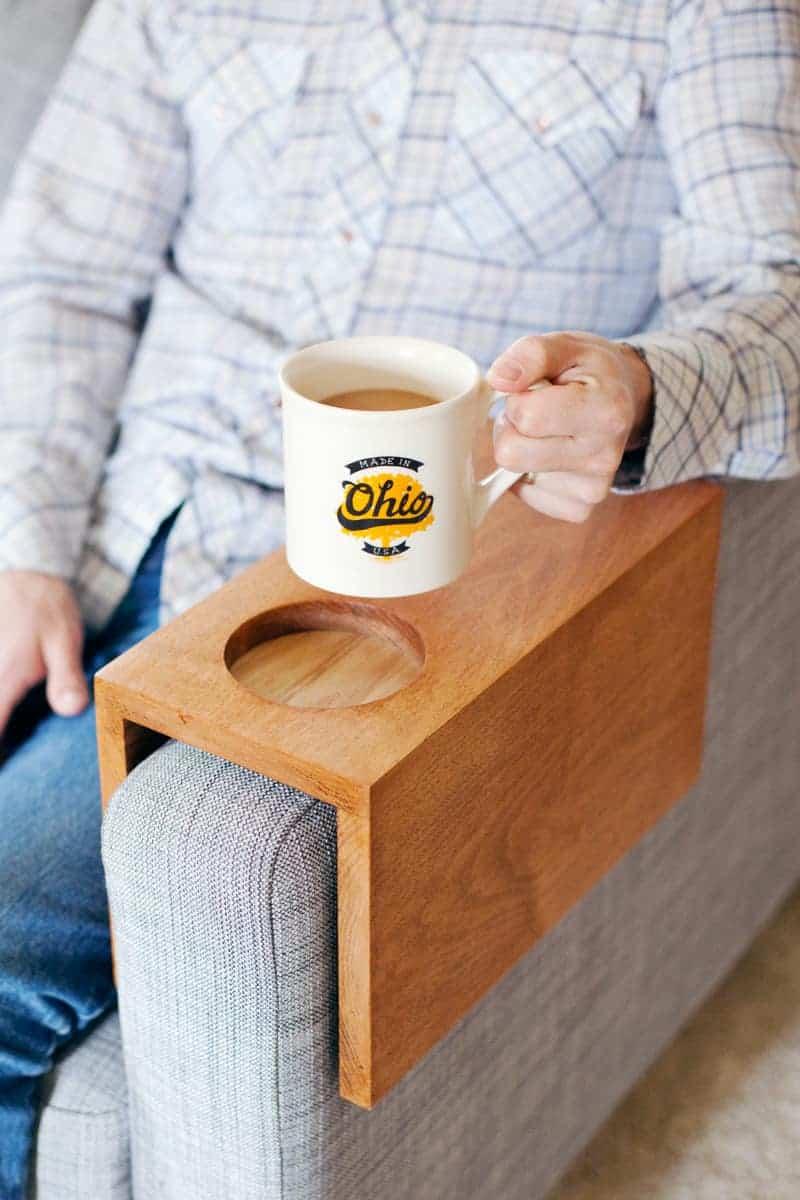 Sofa cup holder DIY 1
