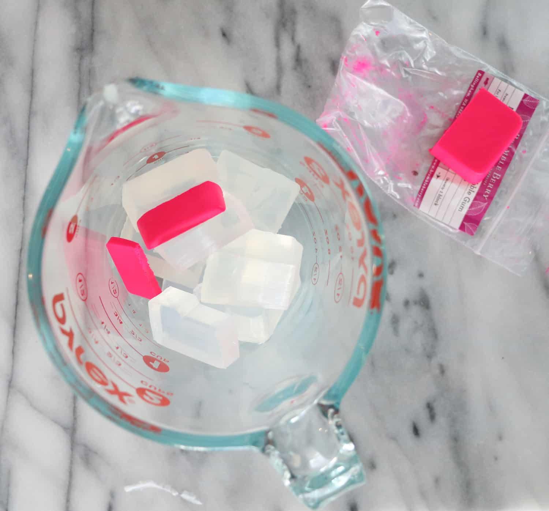 DIY Dragon Fruit Soap Popsicles