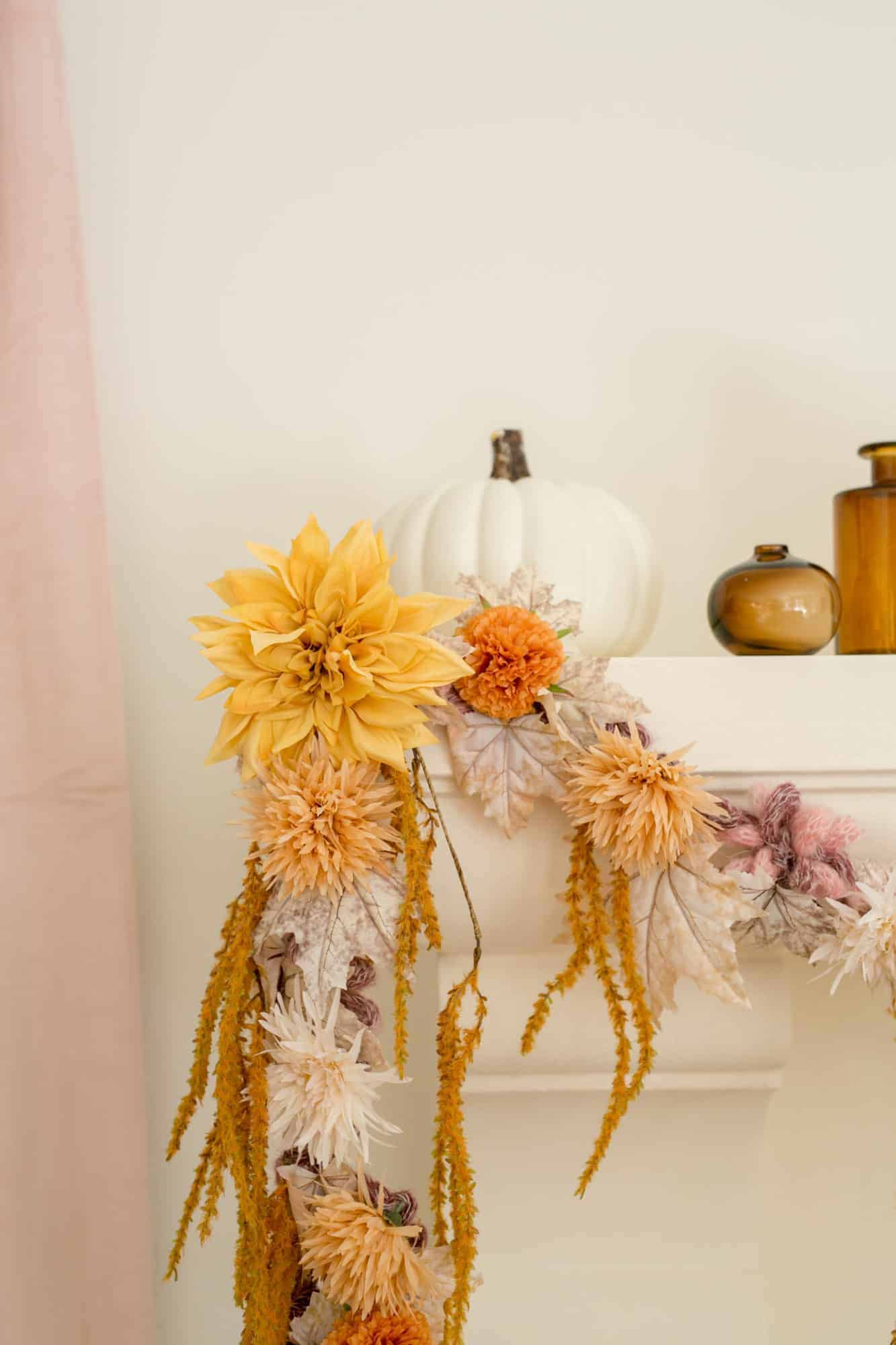Fall floral garland DIY