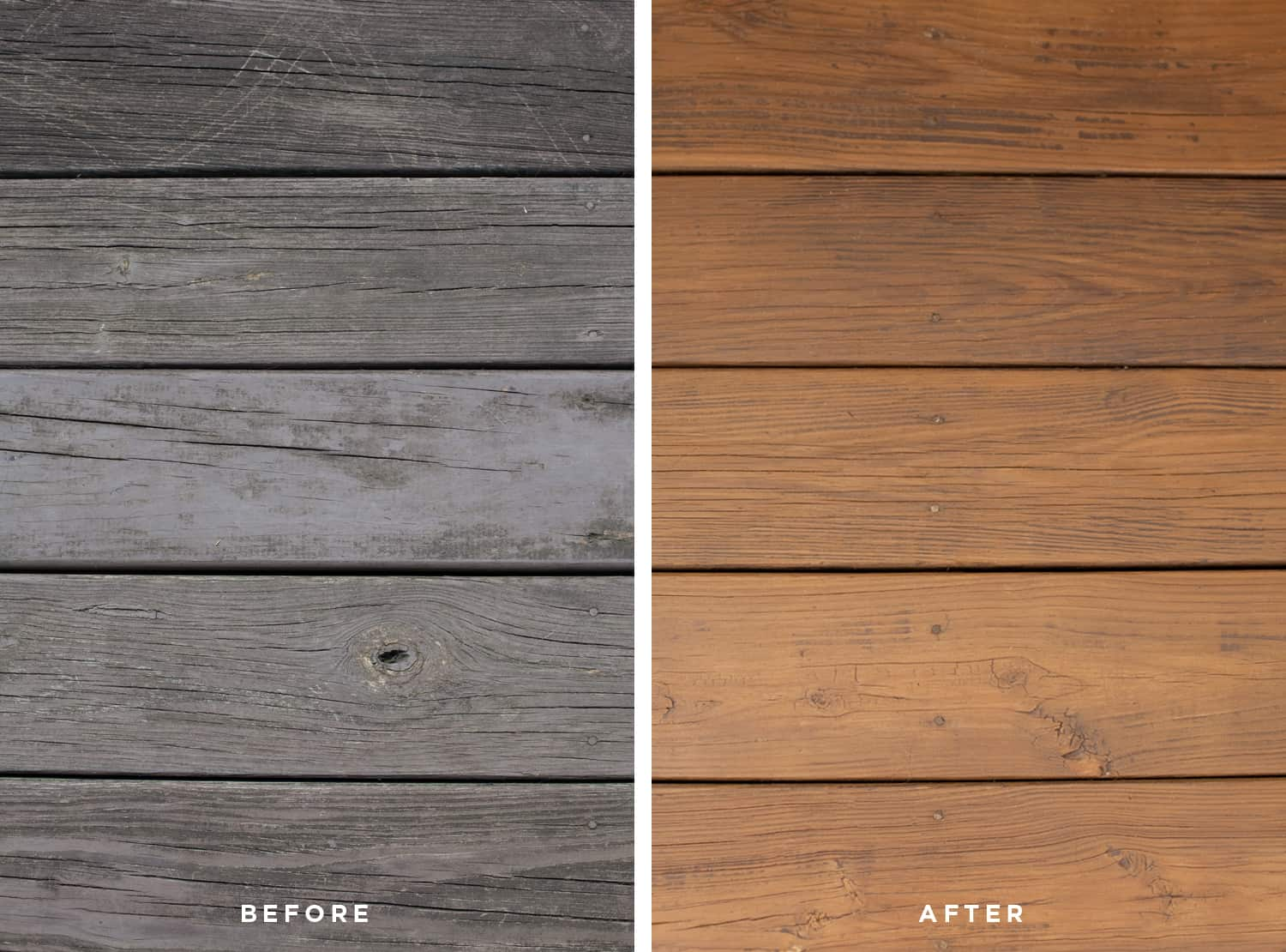 Before + After Deck refinishing