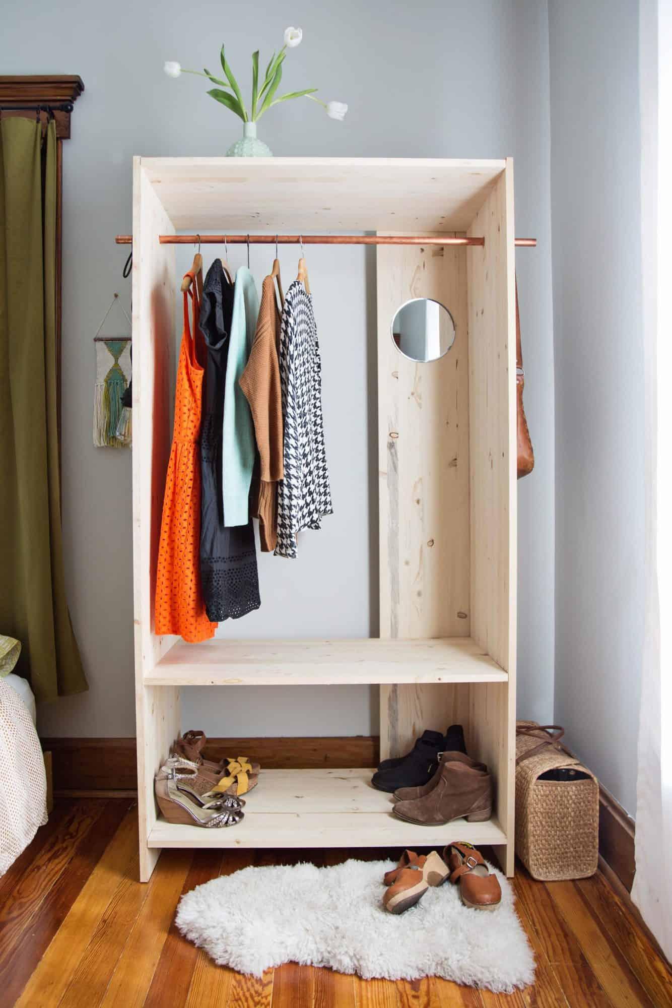 Modern wooden wardrobe DIY scaled