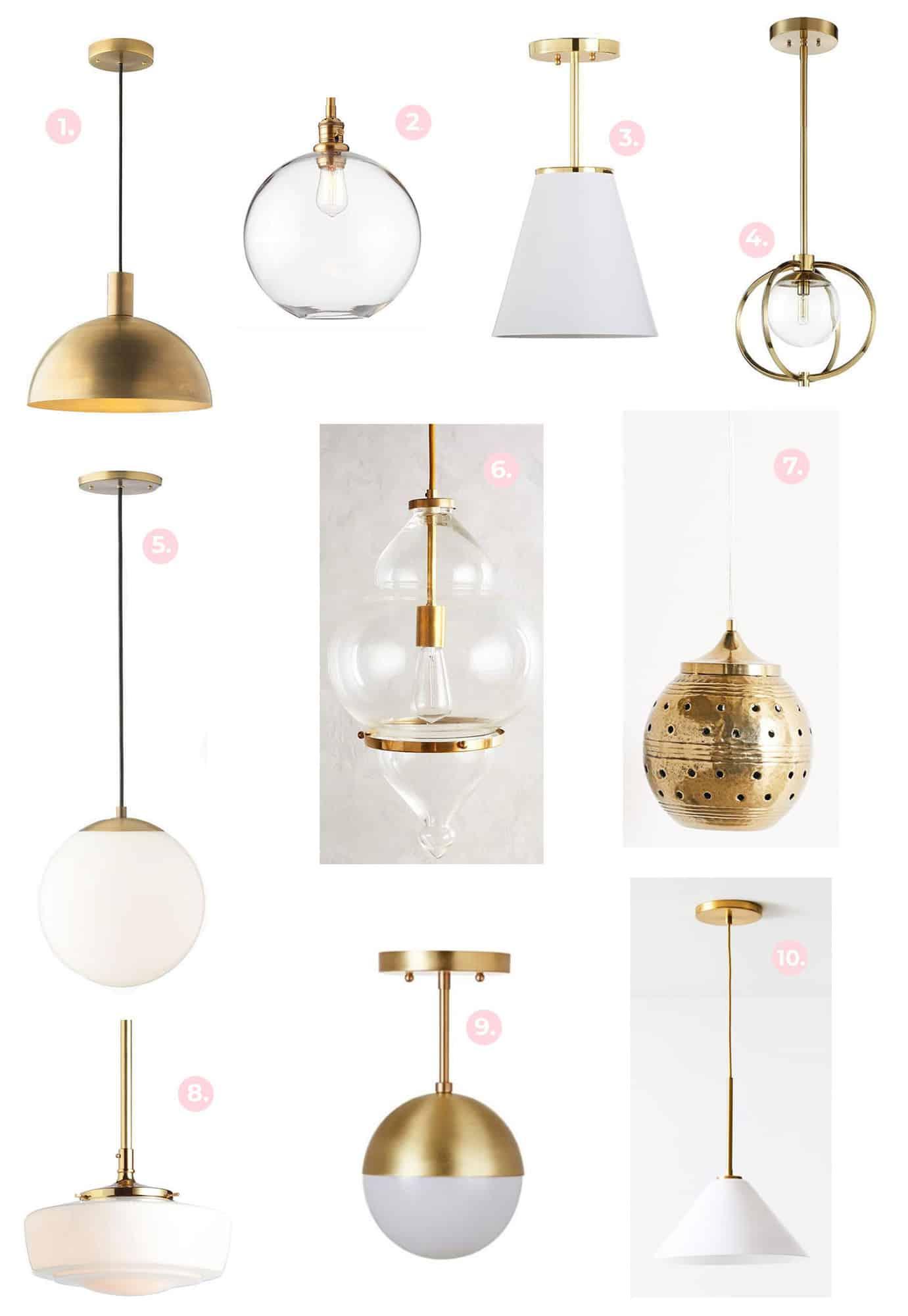 Gold + Brass Light Fixture Shopping Guide - A Beautiful Mess