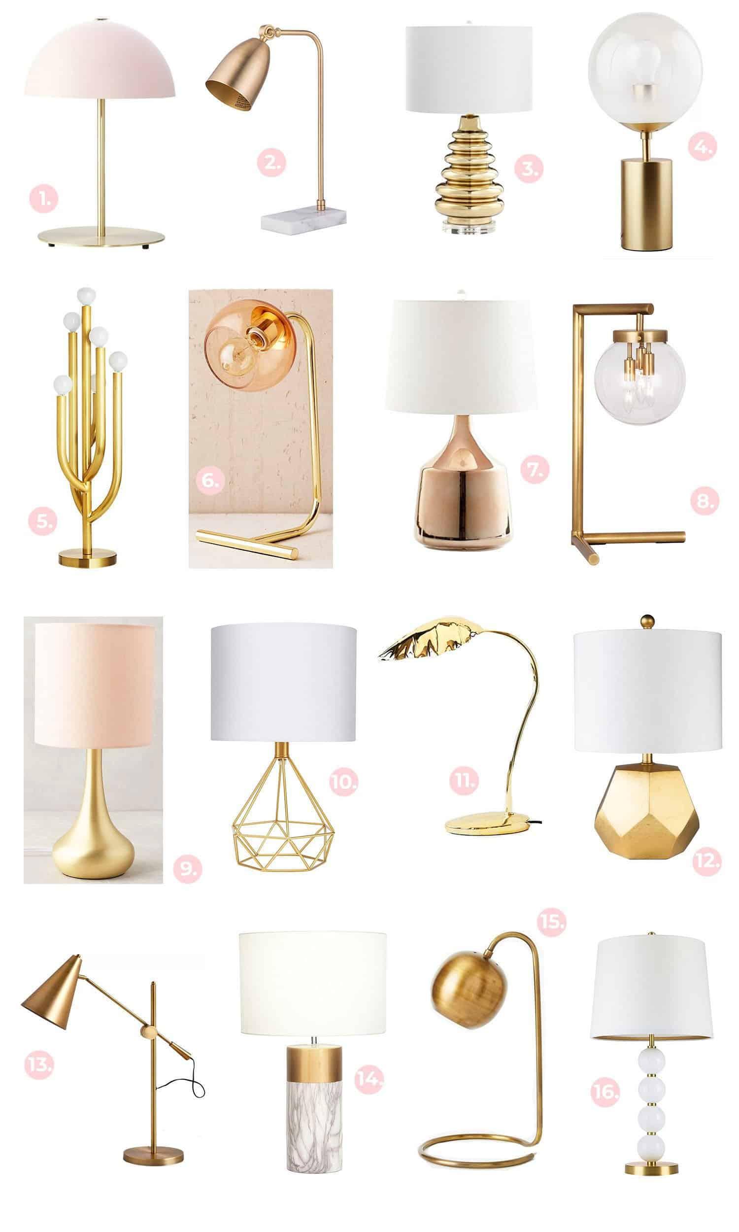 Gold + Messing Leuchte Einkaufsführer