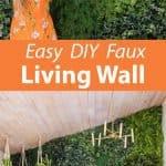 DIY Imitat lebende Wand
