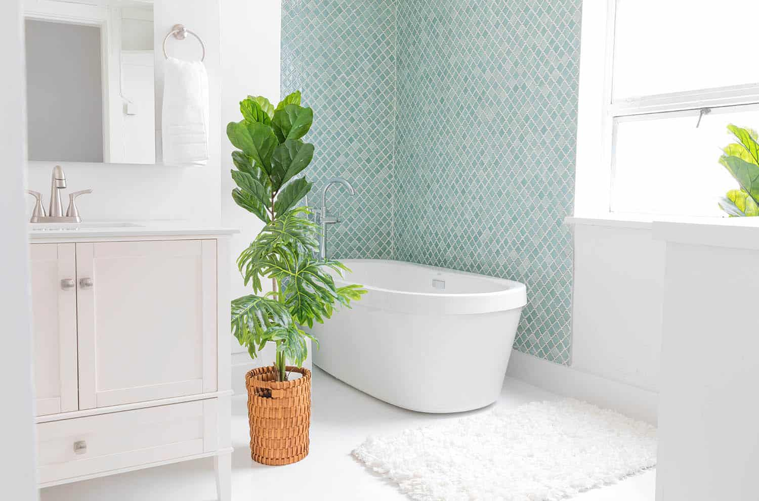 Our Loft Office Bathroom Makeover - A Beautiful Mess