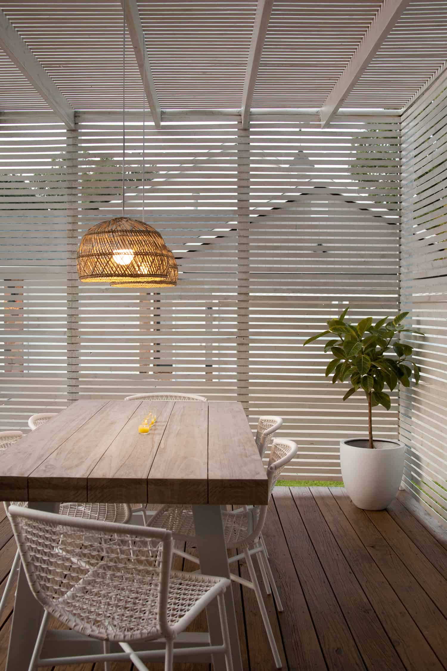 Converting a light for outdoor use