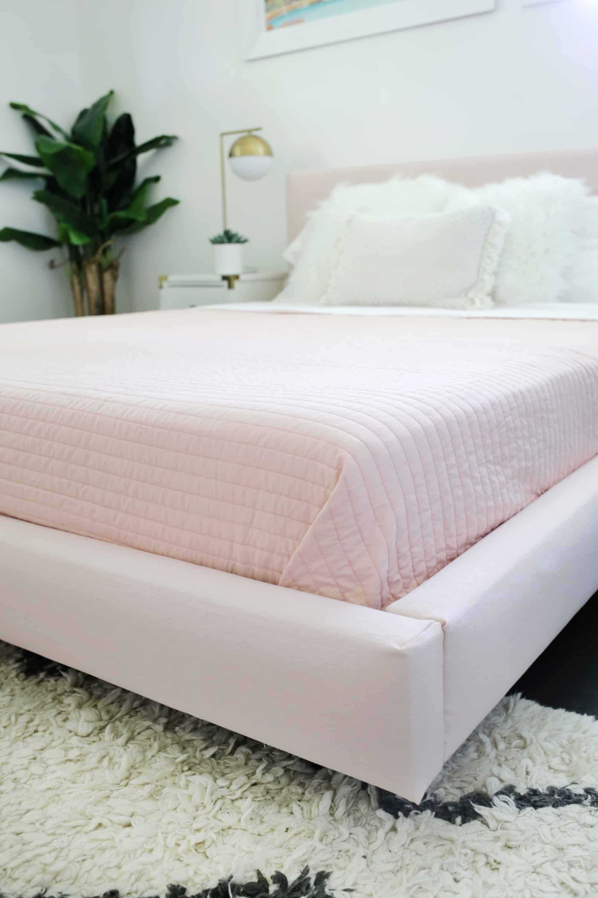 Reupholster Your Bed Frame in One Afternoon (with a no-sew option ...