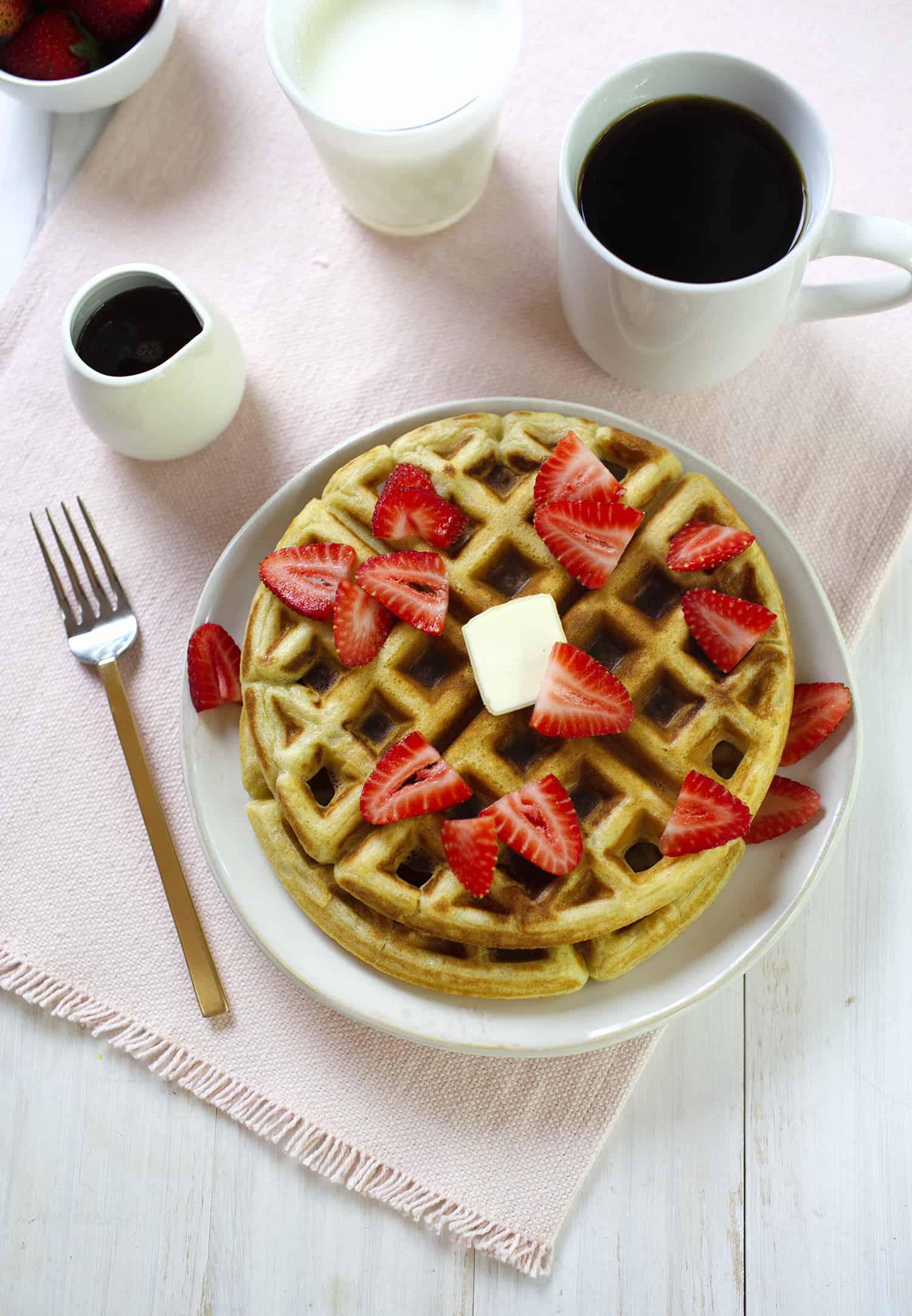 blender waffle recipe
