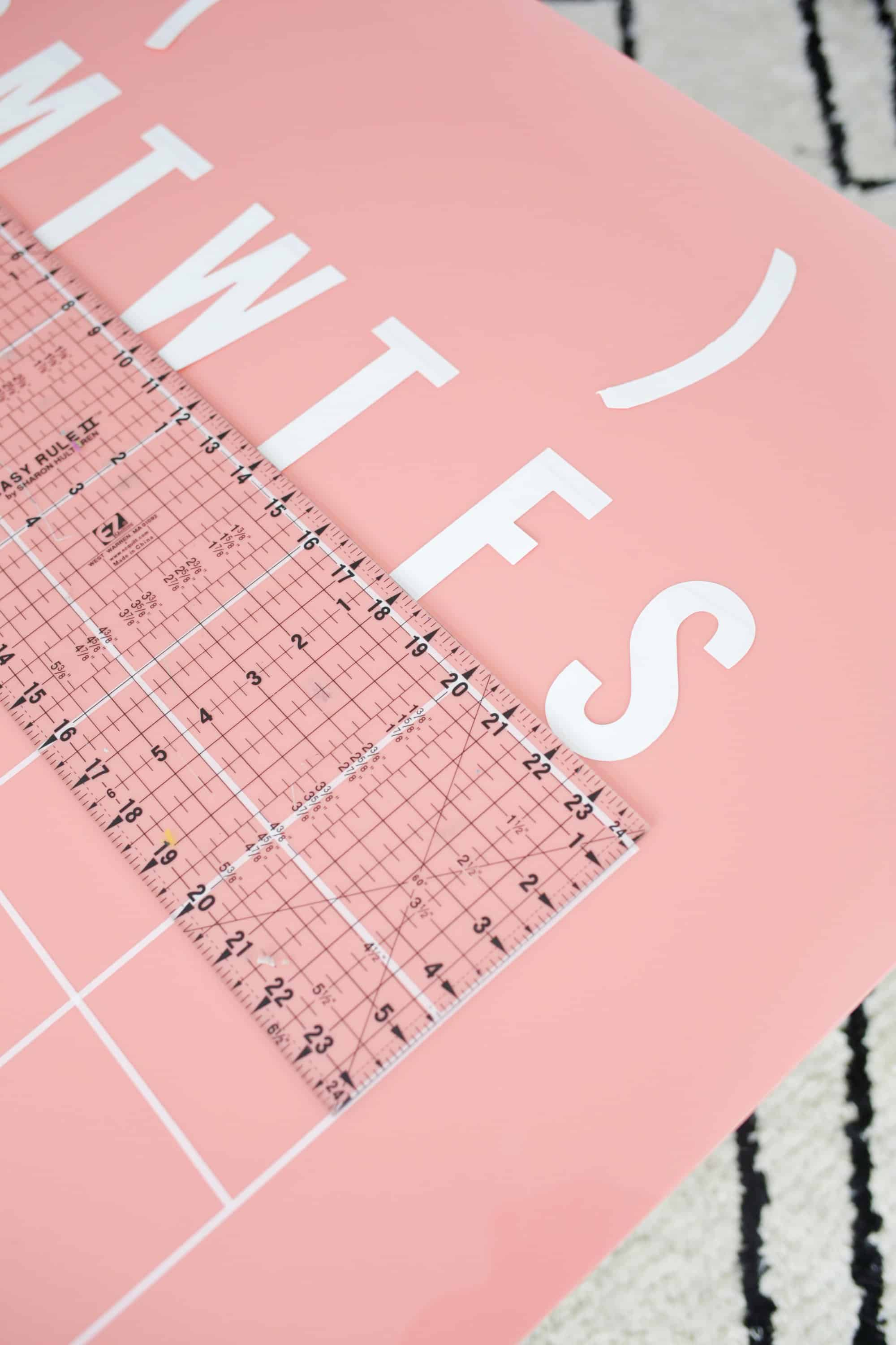 Easy Oversized Acrylic Calendar - A Beautiful Mess