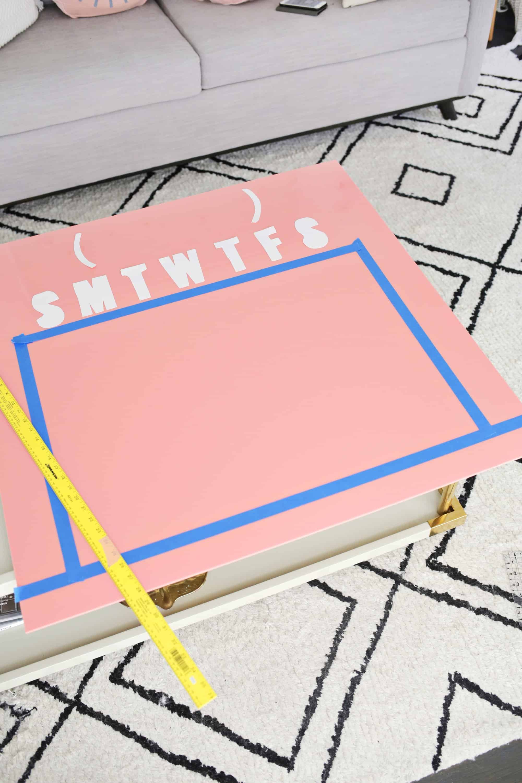 Easy Oversized Acrylic Calendar - A Beautiful Mess
