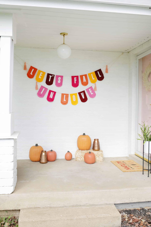 Fall Phrase Garland Diy A Beautiful Mess
