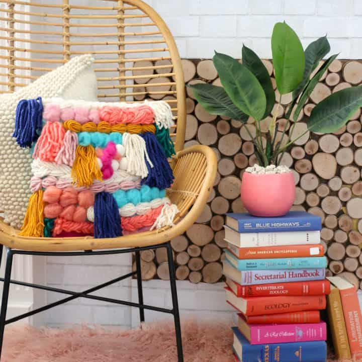 How to Make a Faux Woven Pillow