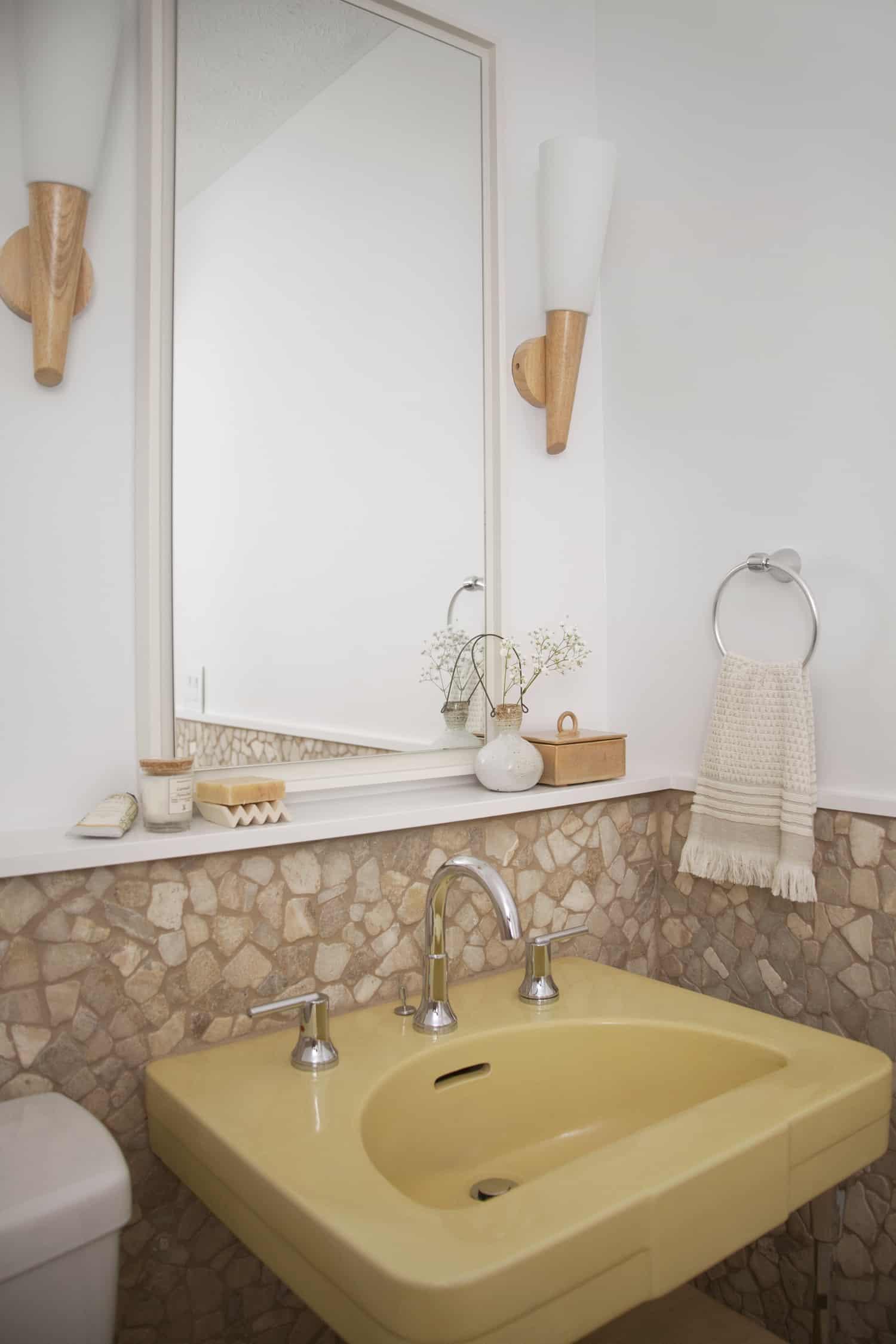 vintage modern bathroom makeover