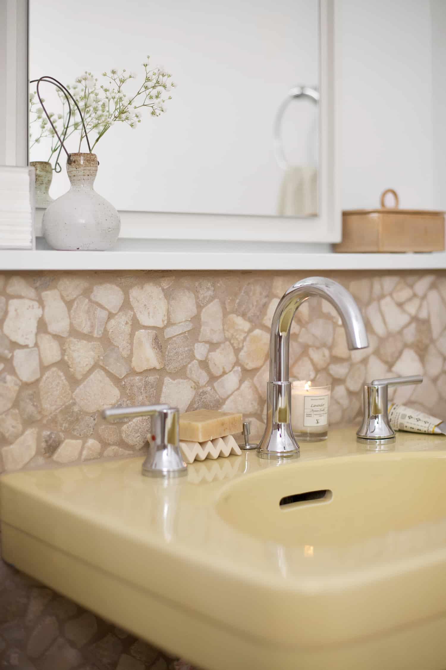 Delta faucet on vintage sink
