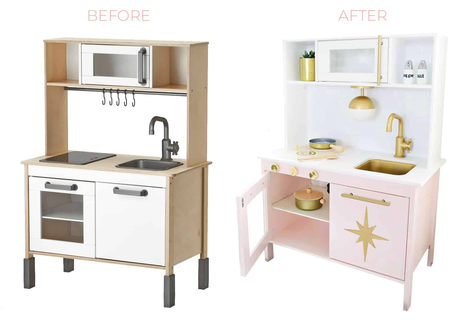 Tutorial for this Ikea kitchen hack on www.abeautifulmess.com!