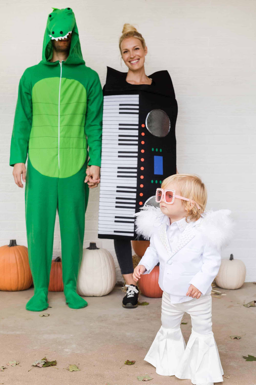 "crocodile rock"" family halloween costume - a beautiful mess"