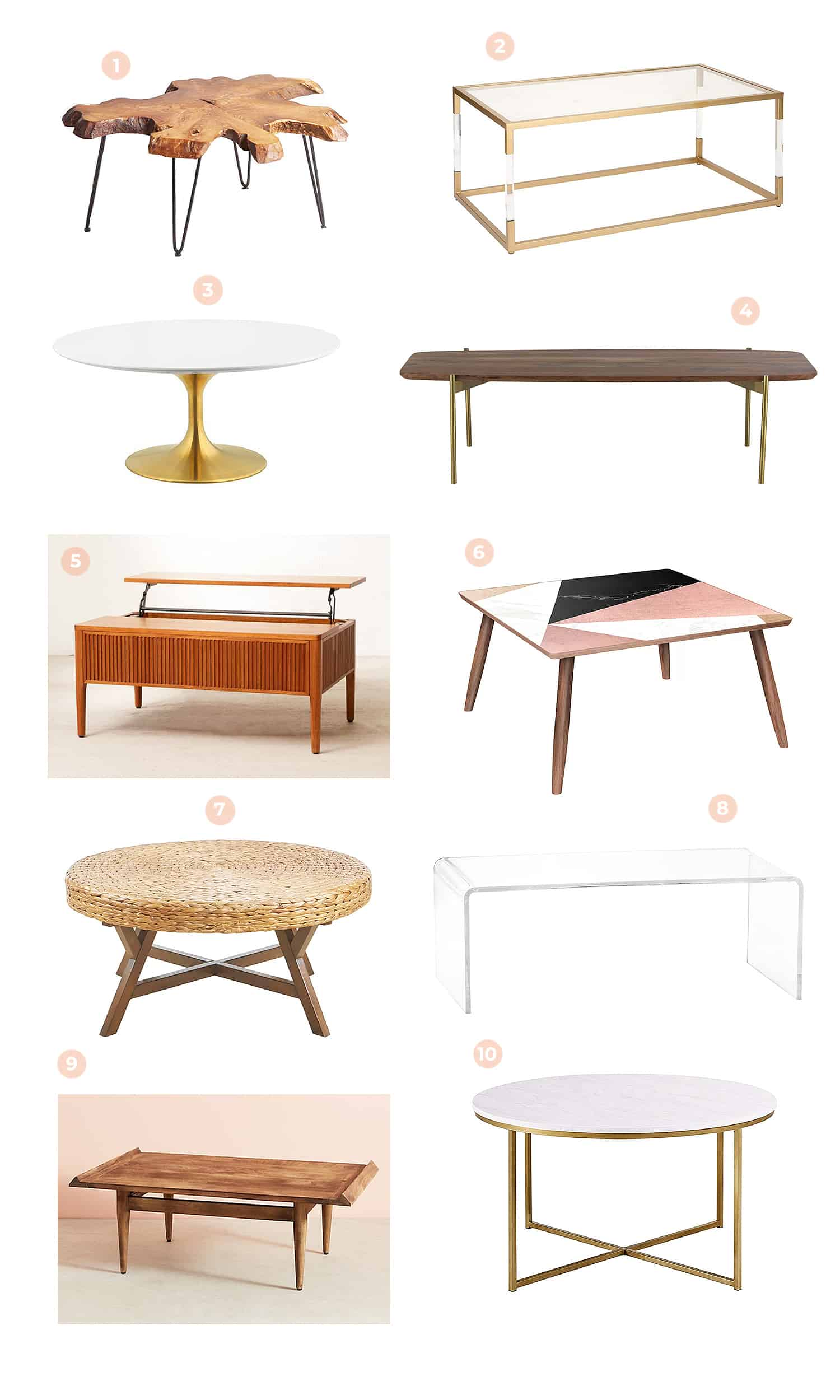 Cute Budget-Friendly Coffee Tables