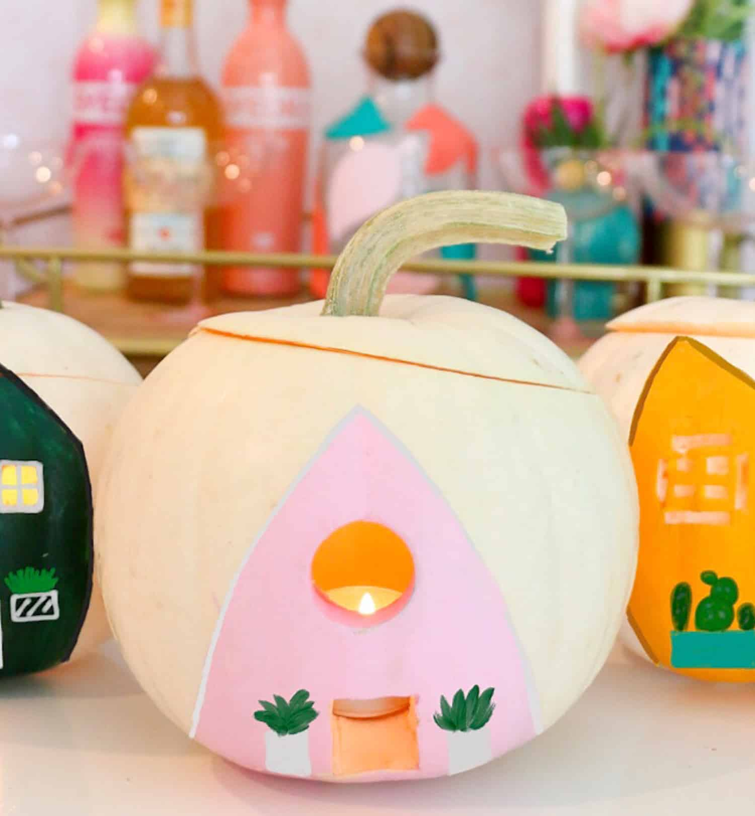 DIY Mini Playhouse Pumpkins