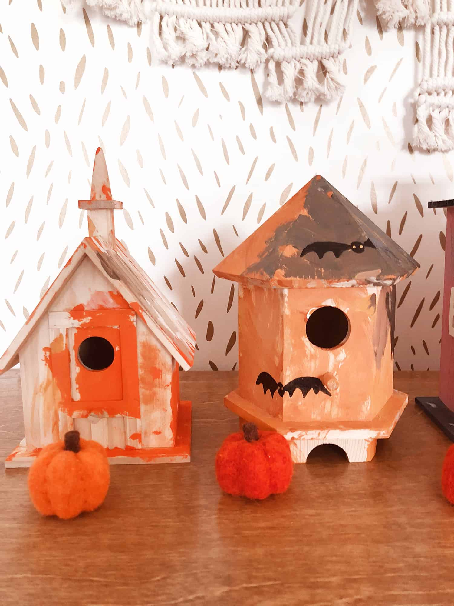 mommy + me craft: make a halloween village - a beautiful mess