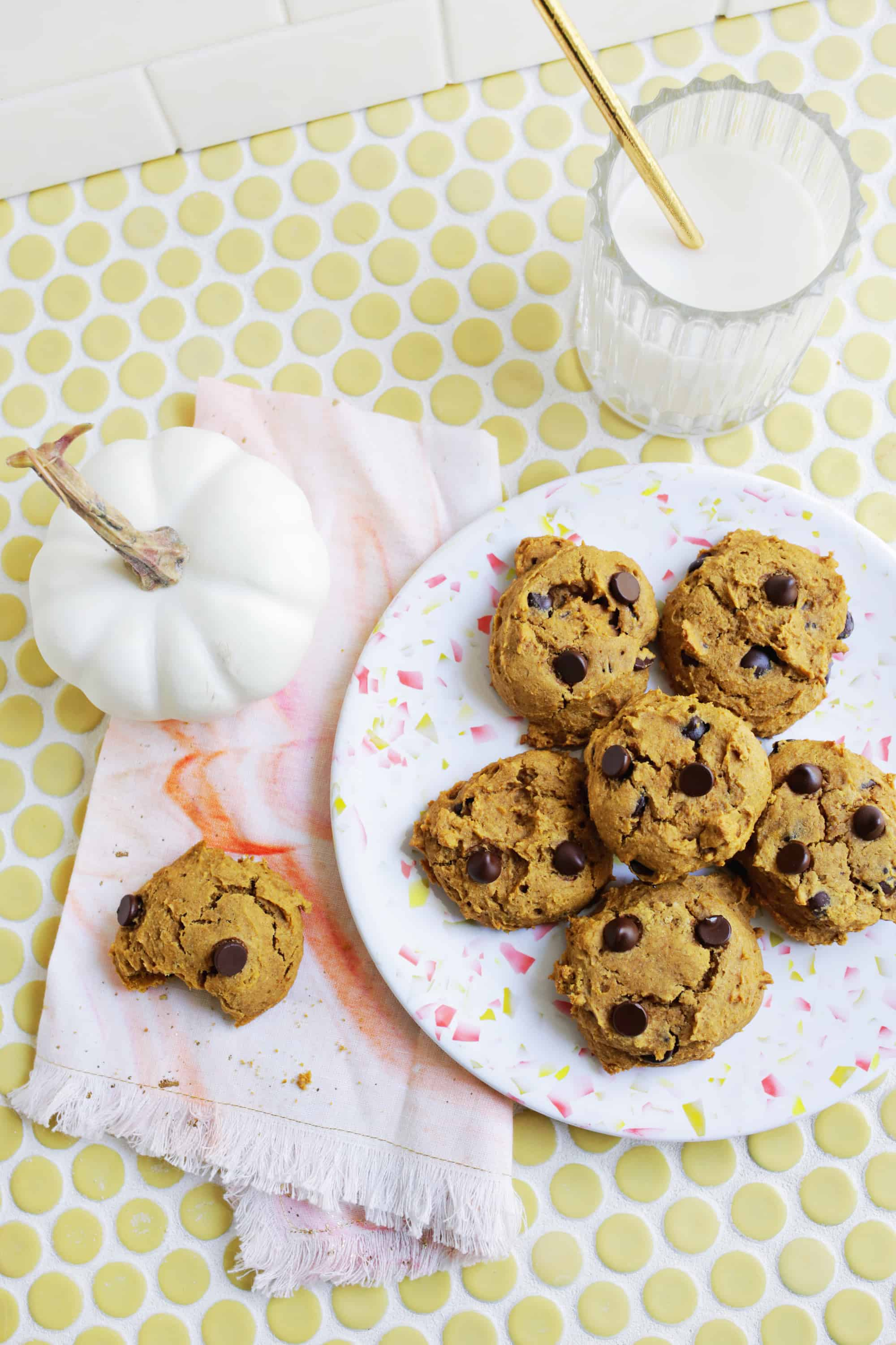 Vegan Chocolate Chip Pumpkin Cookies (also Gluten-Free!)