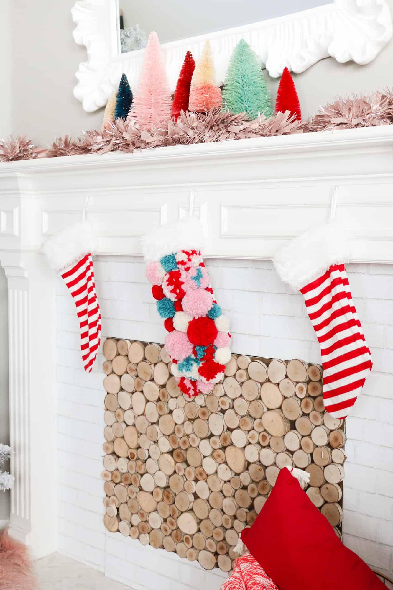 DIY Pom Pom Christmas Stocking