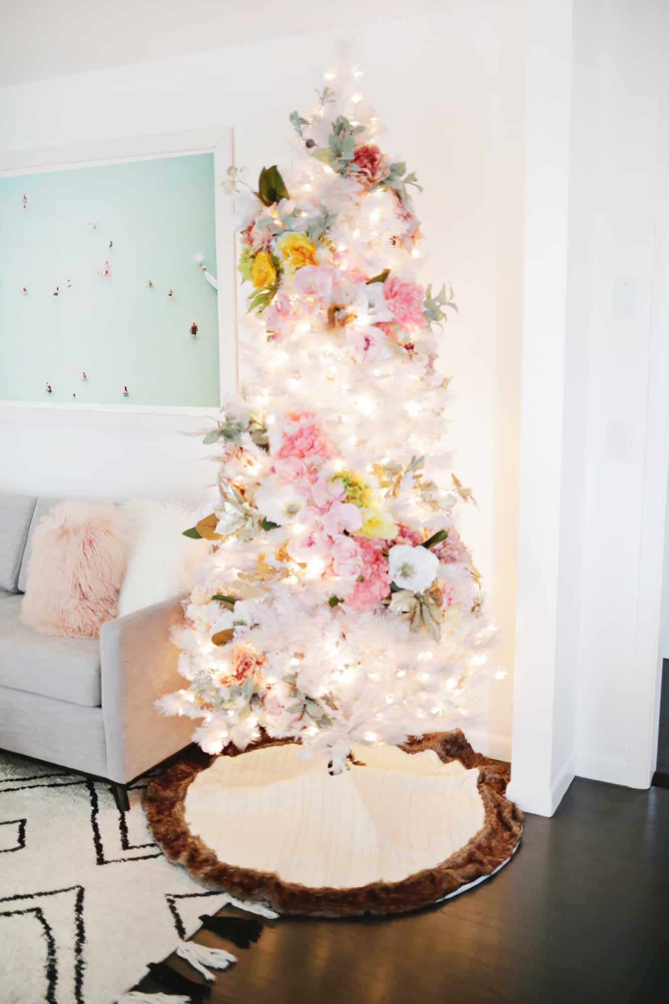 Floral Christmas Tree Diy A Beautiful Mess