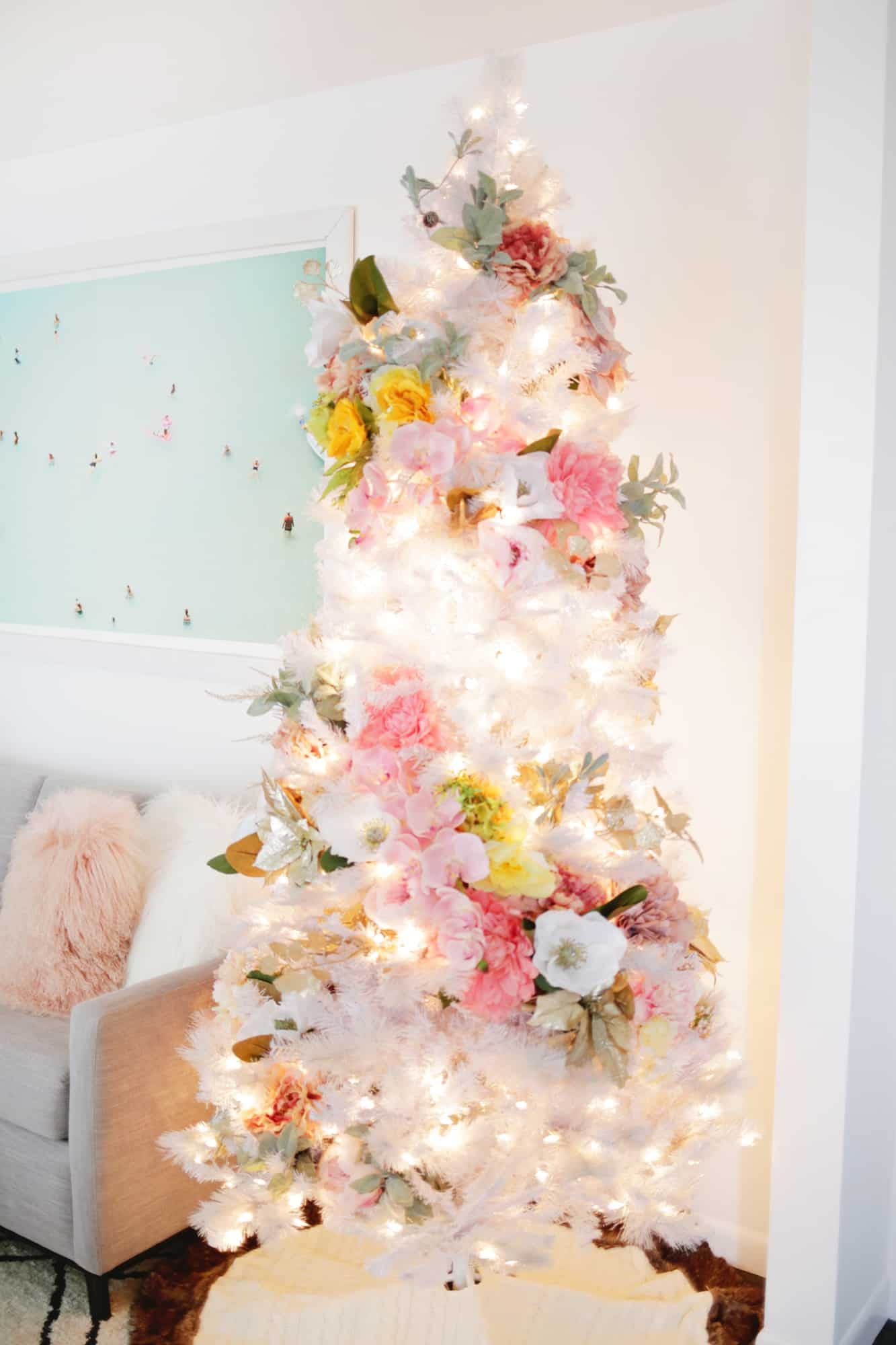 Floral Christmas Tree DIY!
