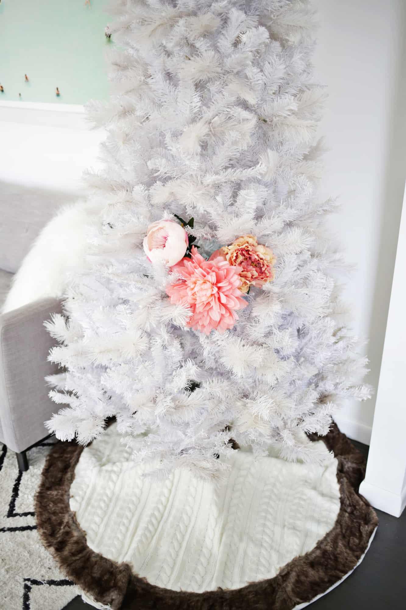 Floral Christmas Tree Diy A Beautiful Mess