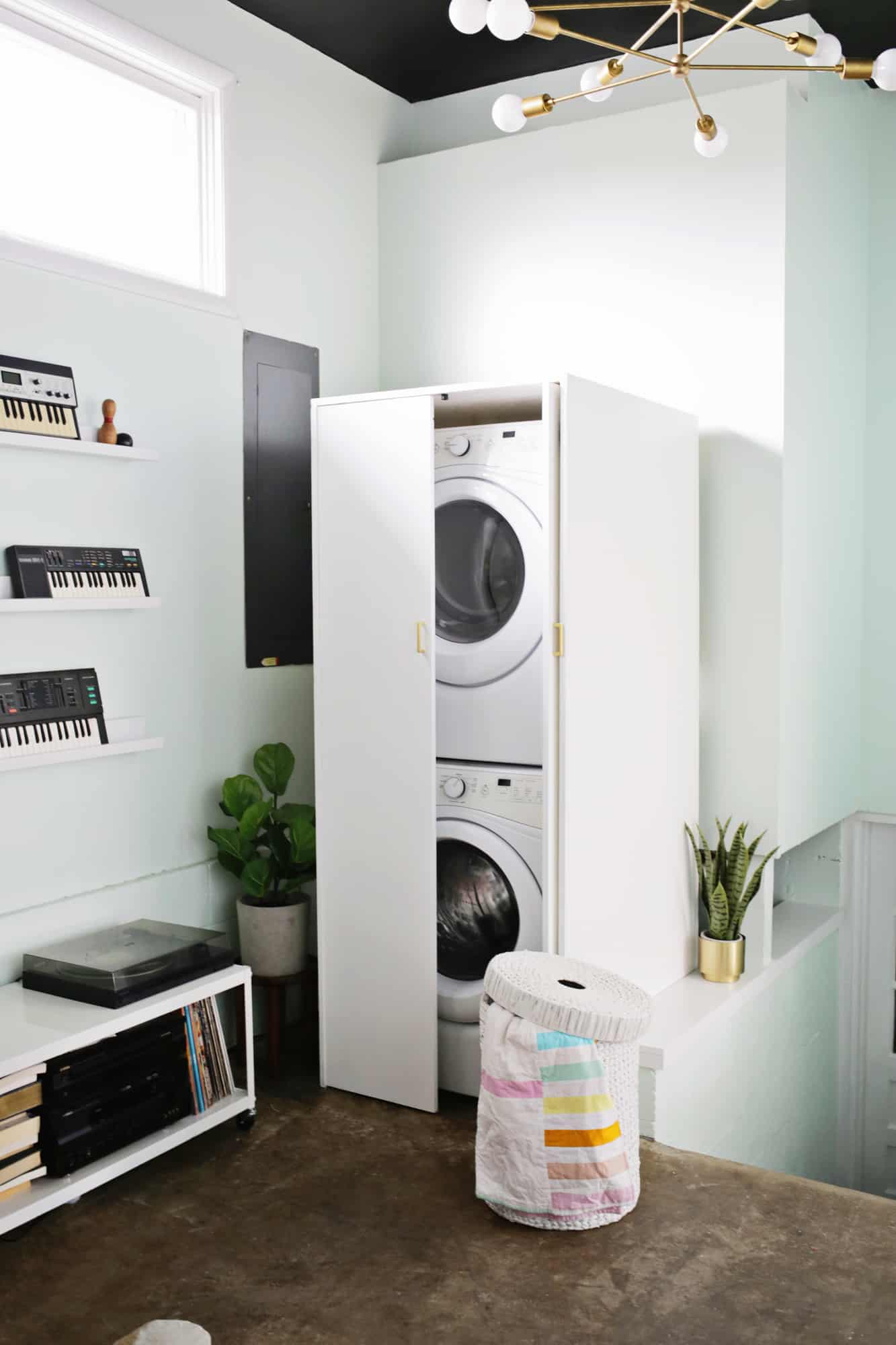 Washer And Dryer Cabinet A, How To Build Cabinets Hide Washer And Dryer