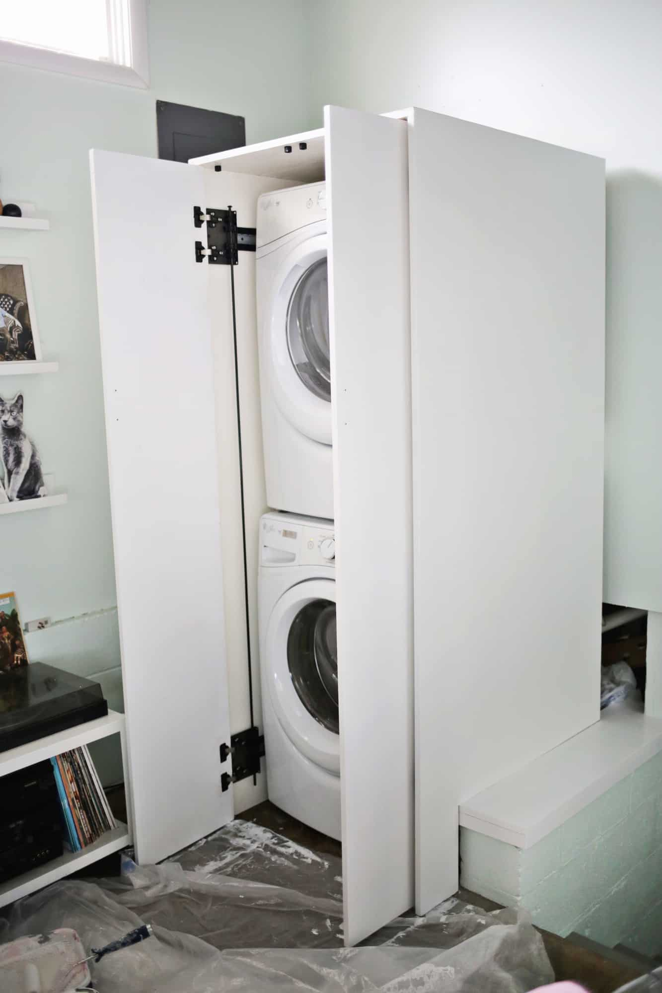 Hidden Washer And Dryer Cabinet A