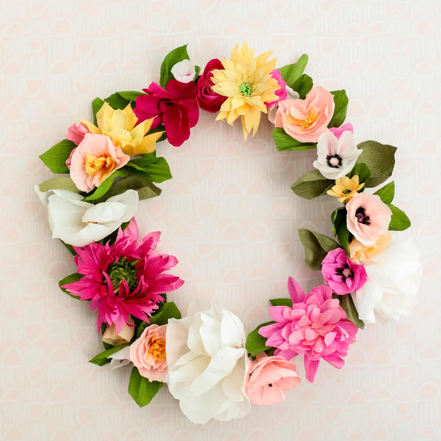 How To Make A Paper Flower Wreath A Beautiful Mess