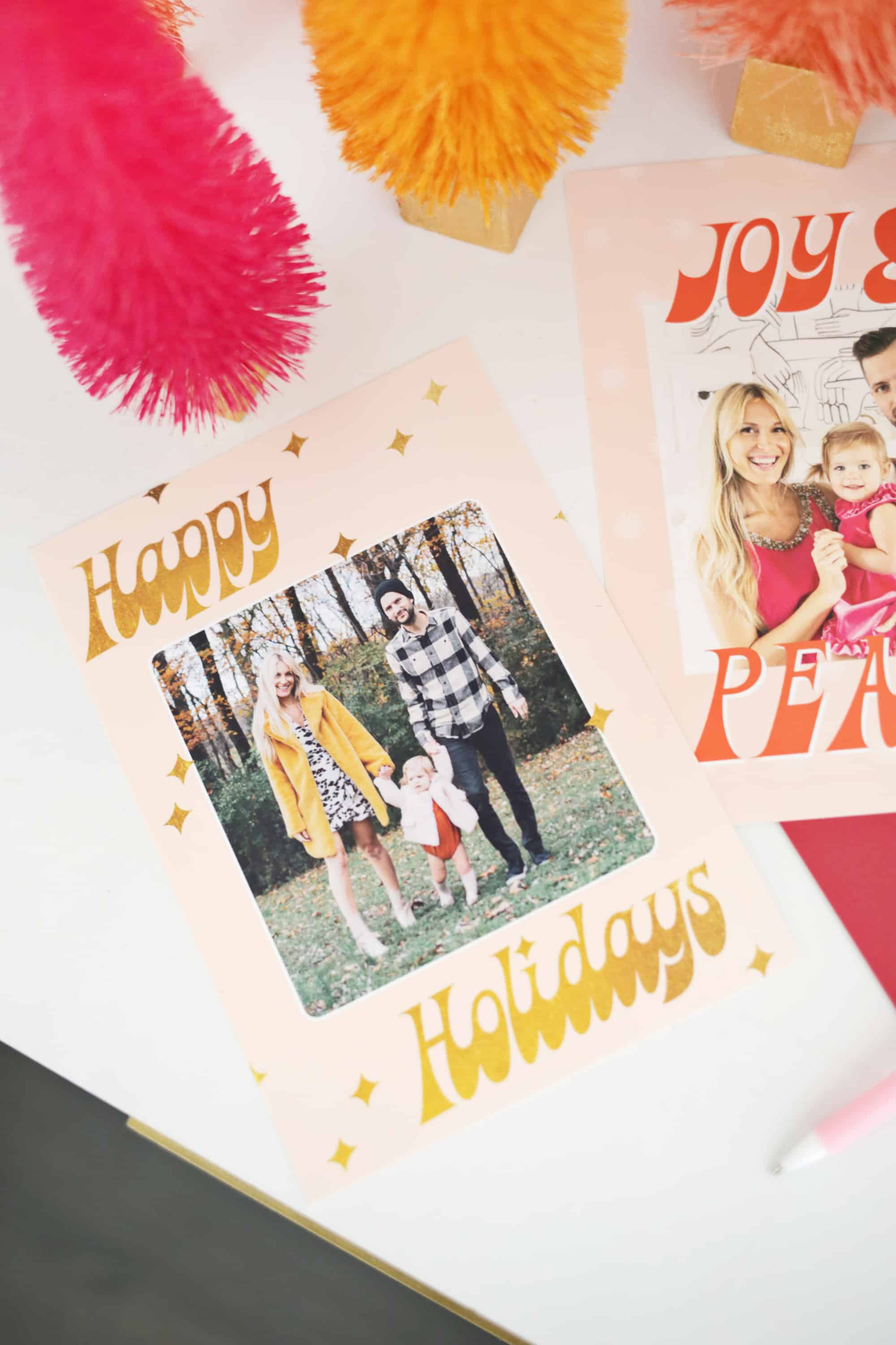 You Can Either Print All Your Cards With One Design Or Several To Mix Up The Variety Send Out Family And Friends