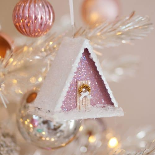 make a vintage-style putz house ornament